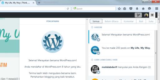 8 tahun wordpress